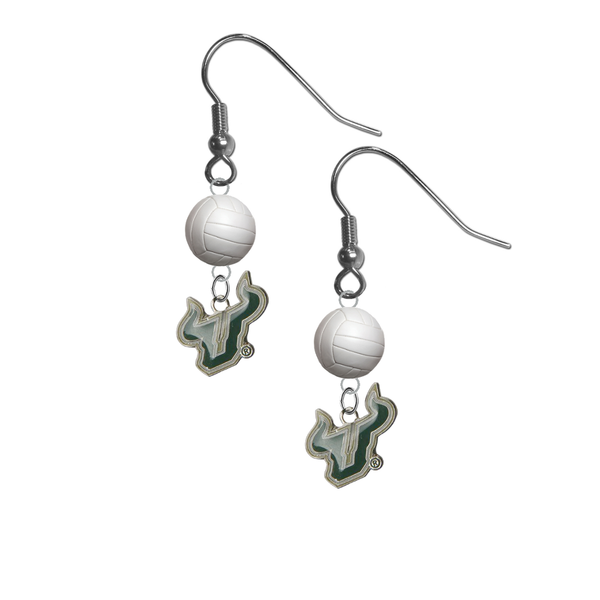 South Florida Bulls NCAA Volleyball Dangle Earrings