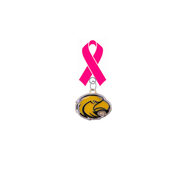 Southern Miss Golden Eagles Breast Cancer Awareness / Mothers Day Pink Ribbon Lapel Pin