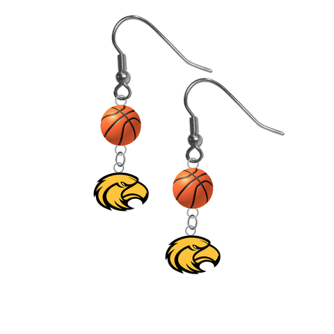 Southern Miss Golden Eagles NCAA Basketball Dangle Earrings