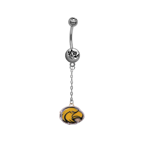 Southern Miss Golden Eagles Dangle Chain Belly Button Navel Ring