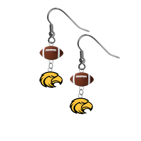 Southern Miss Golden Eagles NCAA Football Dangle Earrings