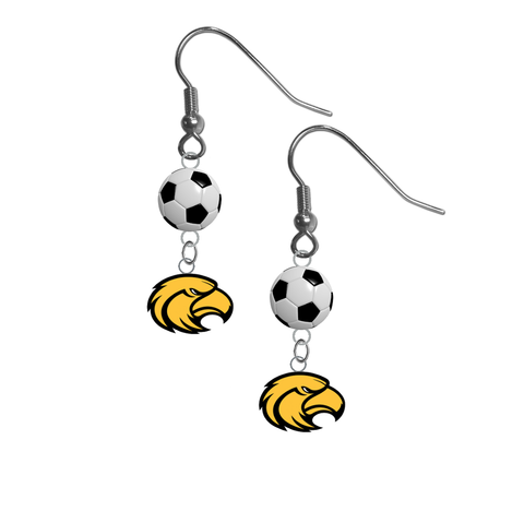 Southern Miss Golden Eagles NCAA Soccer Dangle Earrings