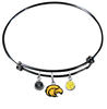 Southern Mississippi Golden Eagles BLACK Color Edition Expandable Wire Bangle Charm Bracelet