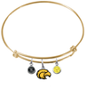 Southern Mississippi Golden Eagles GOLD Color Edition Expandable Wire Bangle Charm Bracelet