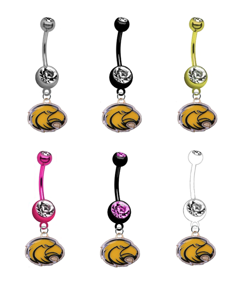 Southern Mississippi Golden Eagles NCAA College Belly Button Navel Ring - Pick Your Color