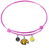 Southern Mississippi Golden Eagles PINK Color Edition Expandable Wire Bangle Charm Bracelet