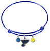 St Louis Blues Color Edition BLUE Expandable Wire Bangle Charm Bracelet