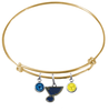 St Louis Blues Color Edition GOLD Expandable Wire Bangle Charm Bracelet