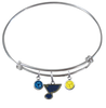 St Louis Blues NHL Expandable Wire Bangle Charm Bracelet