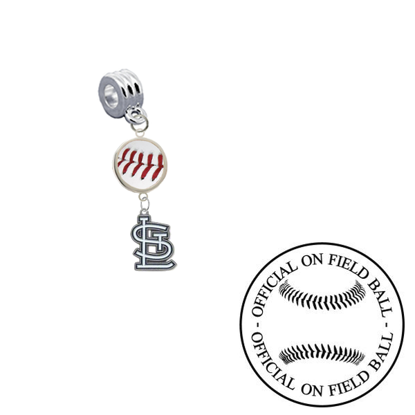 St Louis Cardinals On Field Baseball Universal European Bracelet Charm (Pandora Compatible)
