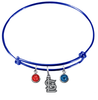 St Louis Cardinals Blue MLB Expandable Wire Bangle Charm Bracelet