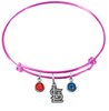 St Louis Cardinals Pink MLB Expandable Wire Bangle Charm Bracelet