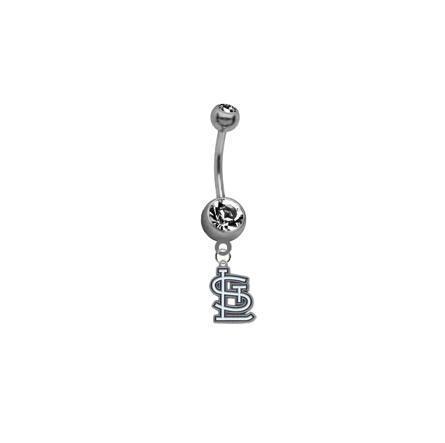 St Louis Cardinals MLB Baseball Belly Button Navel Ring