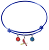 St Louis Cardinals Style 3 Blue MLB Expandable Wire Bangle Charm Bracelet