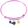 Los Angeles Rams Pink NFL Expandable Wire Bangle Charm Bracelet