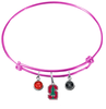 Stanford Cardinal PINK Color Edition Expandable Wire Bangle Charm Bracelet