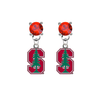 Stanford Cardinal RED Swarovski Crystal Stud Rhinestone Earrings