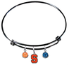 Syracuse Orange BLACK Color Edition Expandable Wire Bangle Charm Bracelet