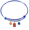 Syracuse Orange BLUE Color Edition Expandable Wire Bangle Charm Bracelet