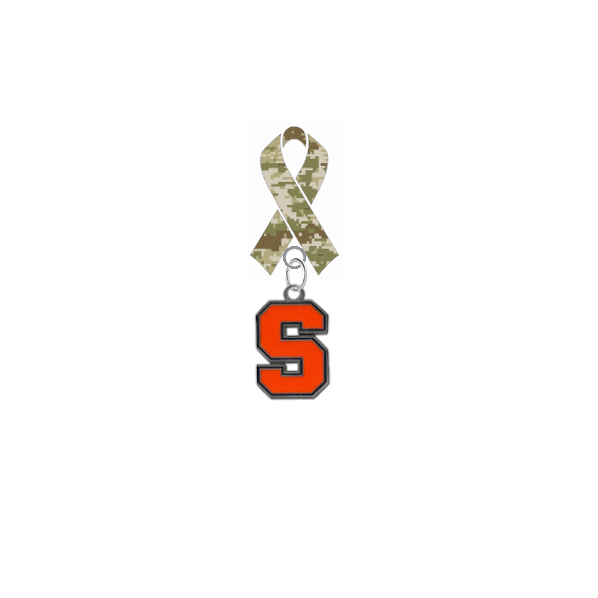 Syracuse Orange Salute to Service Military Appreciation Camo Ribbon Lapel Pin