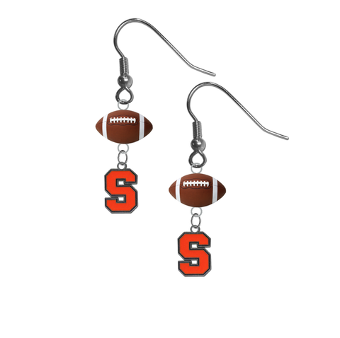Syracuse Orange NCAA Football Dangle Earrings