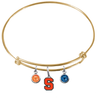 Syracuse Orange GOLD Color Edition Expandable Wire Bangle Charm Bracelet