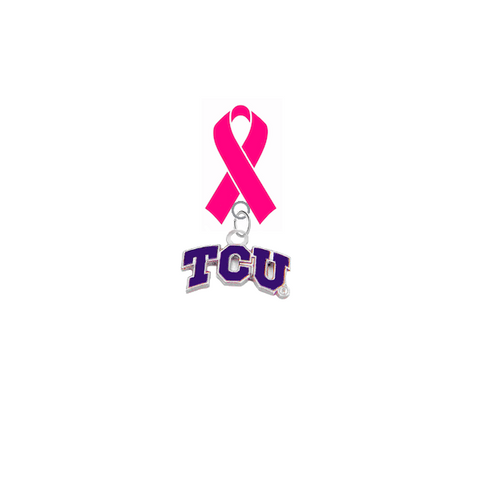 TCU Horned Frogs Breast Cancer Awareness / Mothers Day Pink Ribbon Lapel Pin