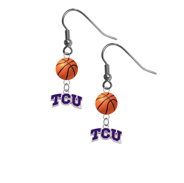 TCU Texas Christian Horned Frogs NCAA Basketball Dangle Earrings