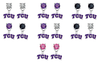 TCU Horned Frogs NCAA Swarovski Crystal Stud Rhinestone Earrings