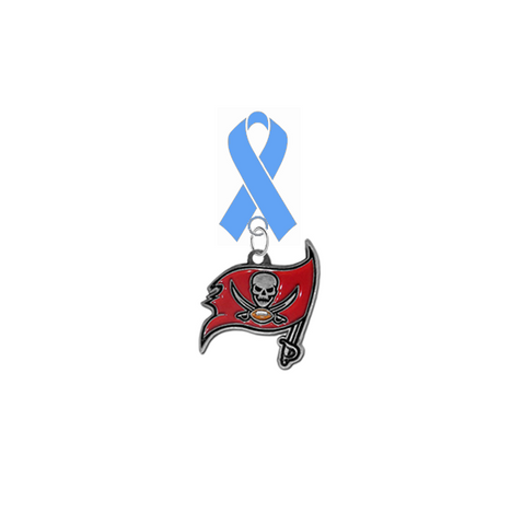 Tampa Bay Buccaneers NFL Prostate Cancer Awareness / Fathers Day Light Blue Ribbon Lapel Pin