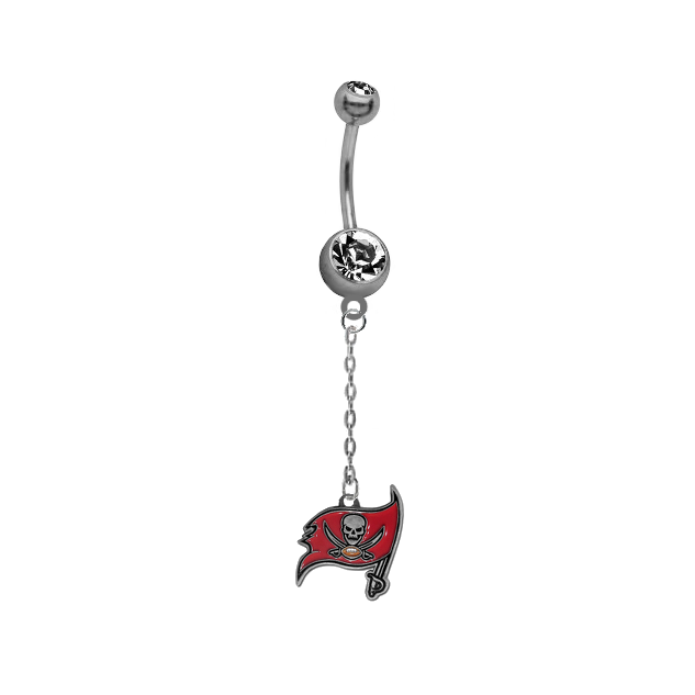 Tampa Bay Buccaneers Chain NFL Football Belly Button Navel Ring