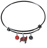 Tampa Bay Buccaneers Black NFL Expandable Wire Bangle Charm Bracelet