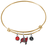 Tampa Bay Buccaneers Gold NFL Expandable Wire Bangle Charm Bracelet