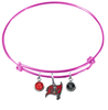 Tampa Bay Buccaneers Pink NFL Expandable Wire Bangle Charm Bracelet
