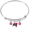 Tampa Bay Buccaneers NFL Expandable Wire Bangle Charm Bracelet