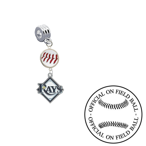 Tampa Bay Rays On Field Baseball Universal European Bracelet Charm (Pandora Compatible)