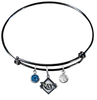 Tampa Bay Rays Black MLB Expandable Wire Bangle Charm Bracelet