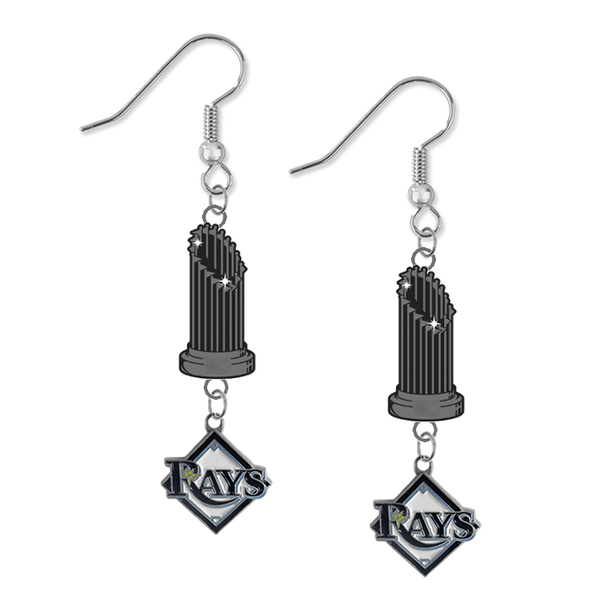 Tampa Bay Rays MLB World Series Trophy Dangle Earrings