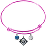Tampa Bay Rays Pink MLB Expandable Wire Bangle Charm Bracelet