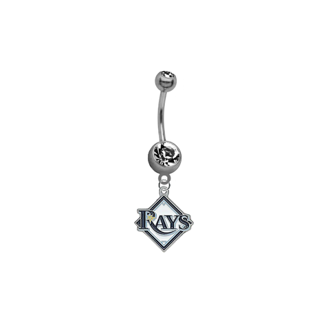 Tampa Bay Rays MLB Baseball Belly Button Navel Ring