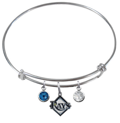 Tampa Bay Rays MLB Expandable Wire Bangle Charm Bracelet
