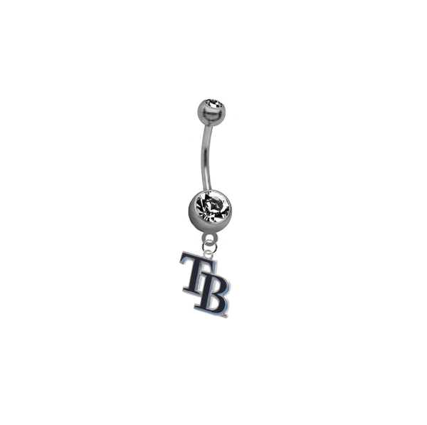 Tampa Bay Rays Style 2 MLB Baseball Belly Button Navel Ring