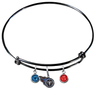 Tennessee Titans Black NFL Expandable Wire Bangle Charm Bracelet