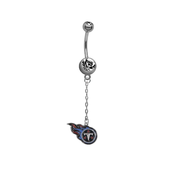 Tennessee Titans Chain NFL Football Belly Button Navel Ring