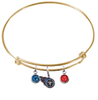Tennessee Titans Gold NFL Expandable Wire Bangle Charm Bracelet