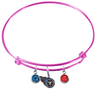 Tennessee Titans Pink NFL Expandable Wire Bangle Charm Bracelet