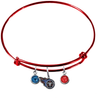 Tennessee Titans Red NFL Expandable Wire Bangle Charm Bracelet