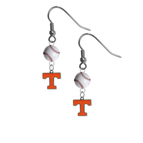 Tennessee Volunteers NCAA Baseball Dangle Earrings