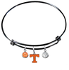 Tennessee Volunteers Vols BLACK Color Edition Expandable Wire Bangle Charm Bracelet