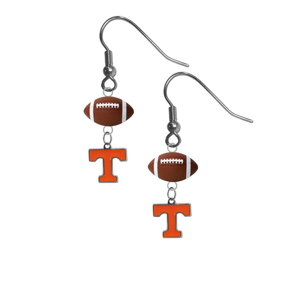 Tennessee Volunteers NCAA Football Dangle Earrings